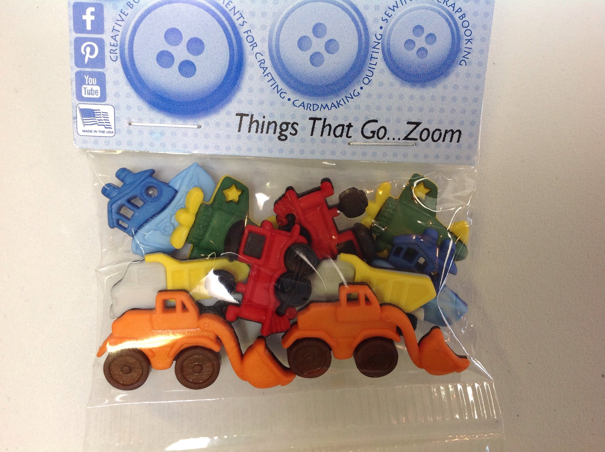 Things That Go Zoom - Dress It Up Buttons