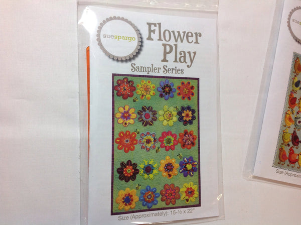Flower play stencil by Sue Spargo