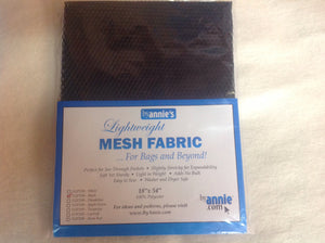 Lightweight Mesh Fabric, black or white