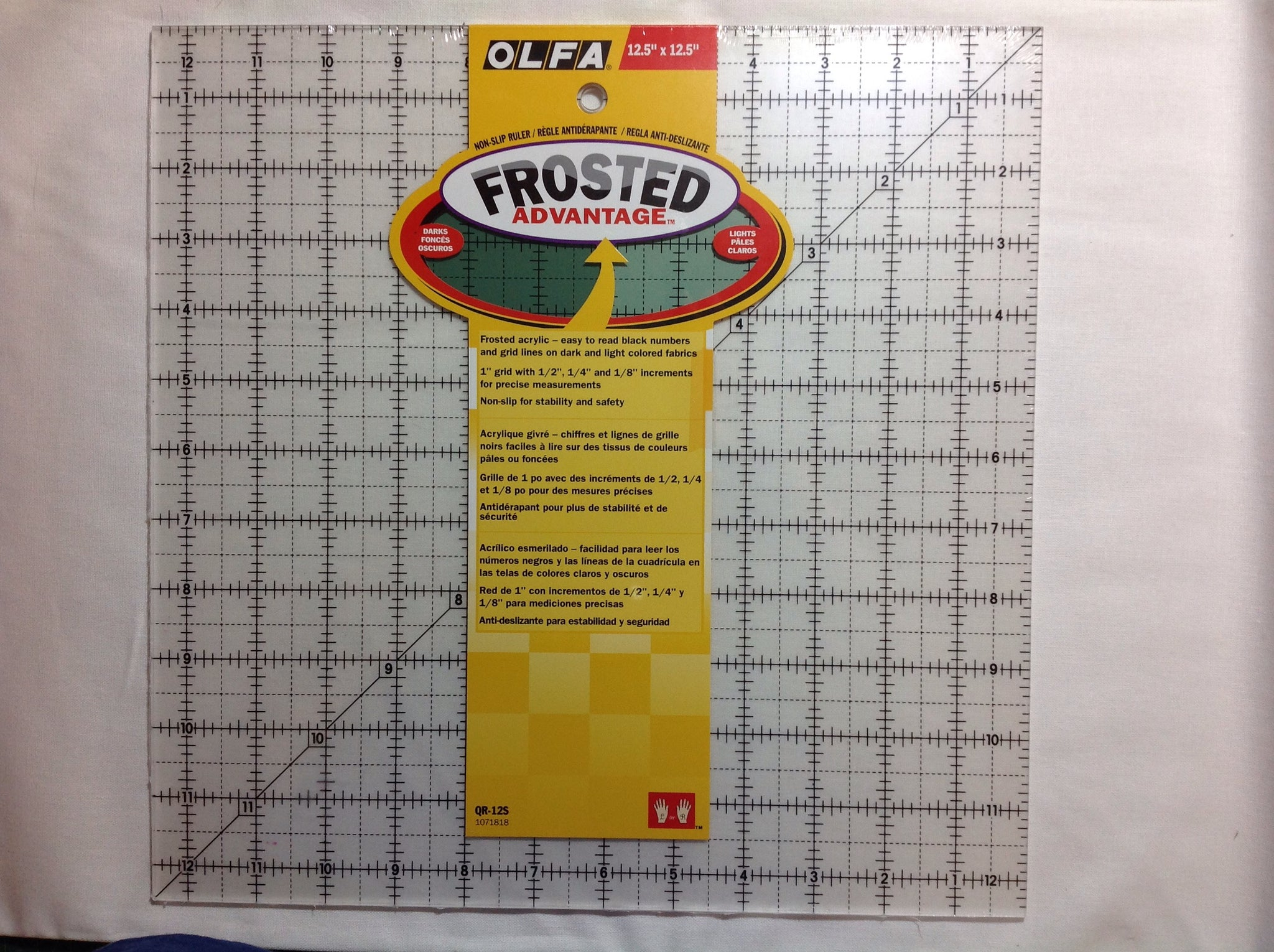 "Olfa frosted 12 1/2"" Square Up Ruler"