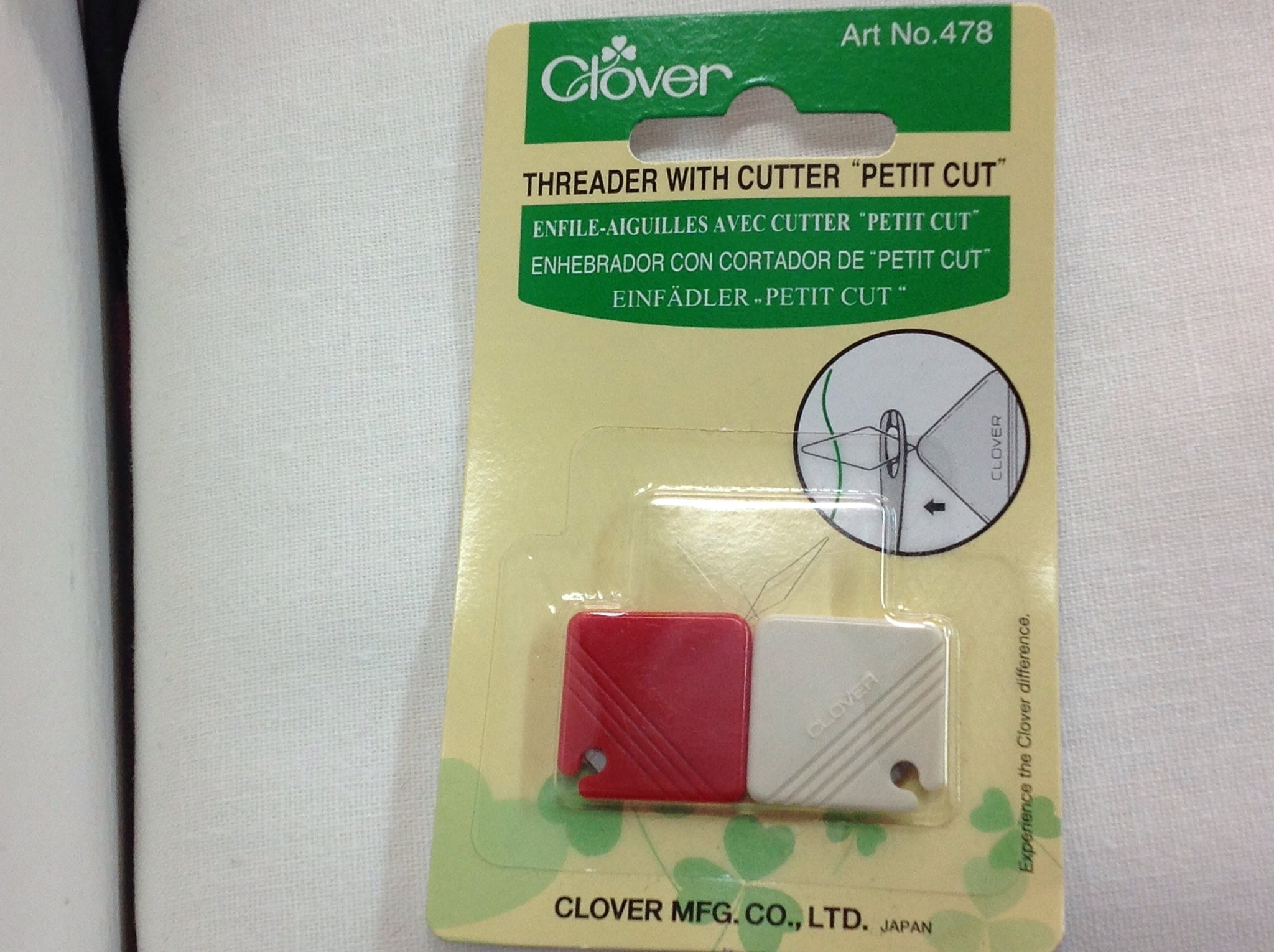 Clover - Needle Threader and cutter x 2