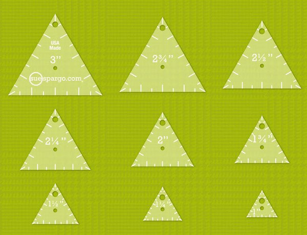 Triangles Easy Templates - Sue Spargo