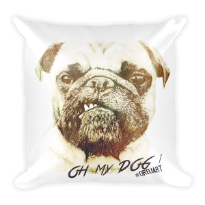 Pug Mug Throw Pillow