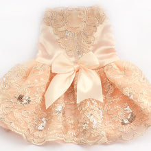 """Princess Pooch"" Embroidered Lace Dog Dress"