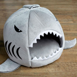 """We're Going to Need a Bigger Bone"" Shark Dog Bed"