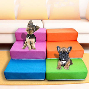 """Let Me Up"" Colorful, Collapsable Pet Steps"