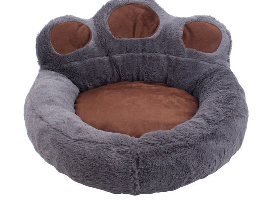 """A Round of Paw-plause"" Bear Paw Dog Bed"