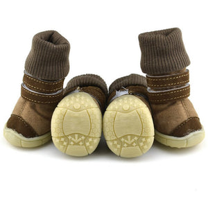 Leather Winter Dog Booties