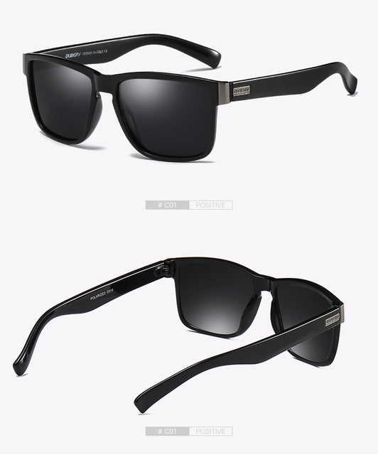 03b506fe66 DUBERY Brand Design Polarized Sunglasses Men Driver Shades Male Vintage Sun  Glasses For Men Spuare Mirror. Loading zoom
