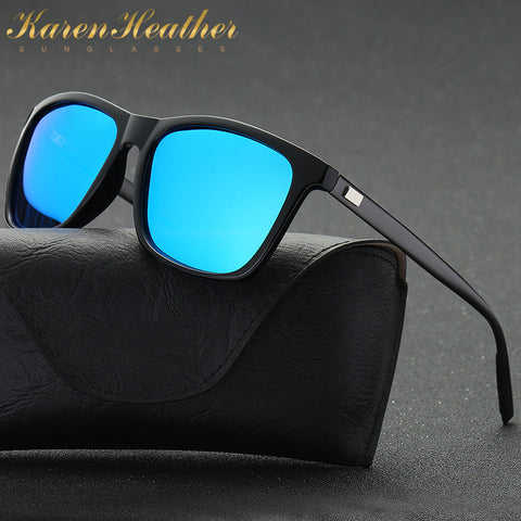 2112ee953a100 New KarenHeather Polarized Sunglasses Men s Driving mirror Square Black  Frame Eyewear For Men Aluminium Magnesium ...