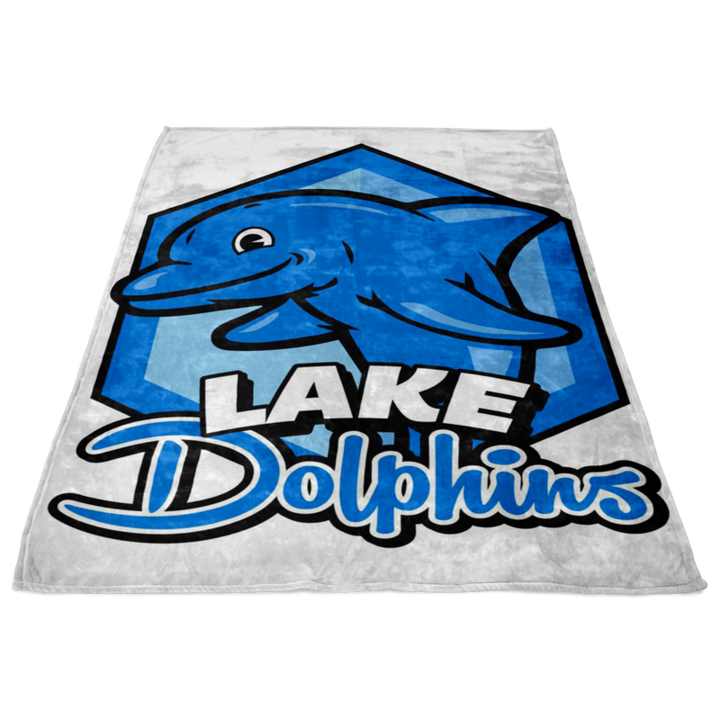 Lake Dolphins Fleece Blanket