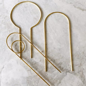 Ivy Muse - Mini Brass Plant Stakes - Set of 3