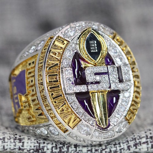 Louisiana State University (LSU) College Football National Championship Ring (2019) - Premium Series