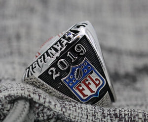 Fantasy Football Championship Ring 18k White Gold Plated (2019) - Premium Series