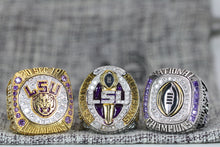 Load image into Gallery viewer, Louisiana State University (LSU) College Football Championship Ring Set of 3 (2019) - Premium Series