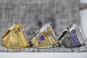 Louisiana State University (LSU) College Football Championship Ring Set of 3 (2019) - Premium Series