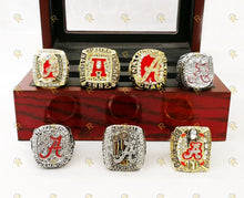 Load image into Gallery viewer, Alabama Crimson Tide College Football Ring Set (1992, 2009, 2011, 2012, 2015, 2017)