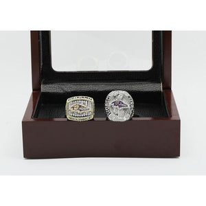 Baltimore Ravens Super Bowl Ring Set (2000, 2012)
