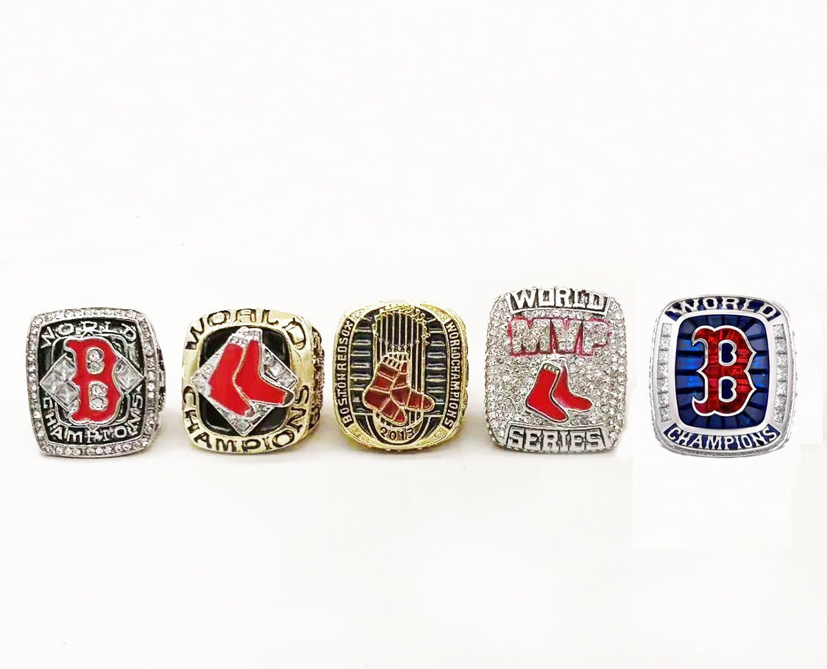 Boston Red Sox World Series Rings (MVP, 2004, 2007, 2013, 2018) Set