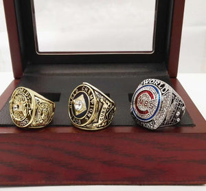 Chicago Cubs World Series Rings (1907, 1908, 2016) Set