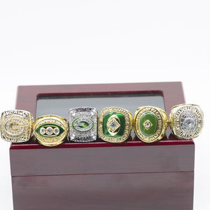 Green Bay Packers Super Bowl Ring Set (1961, 1965, 1966, 1967, 1996, 2010)