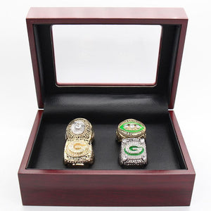 Green Bay Packers Super Bowl Ring Set (1966, 1967, 1996, 2010)