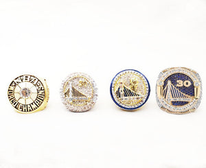 NEW Golden State Warriors NBA Championship Ring Set (1975, 2015, 2017, 2018)