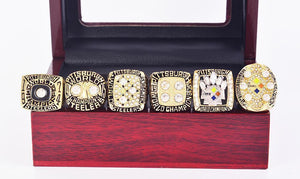 Pittsburgh Steelers Super Bowl Ring Set (1974, 1975, 1978, 1979, 2005, 2008)
