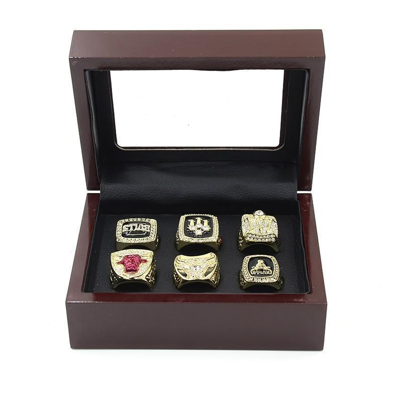 Chicago Bulls NBA Championship Ring Set (1991, 1992, 1993, 1996, 1997, 1998) Rings For Champs