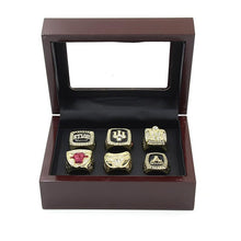 Load image into Gallery viewer, Chicago Bulls NBA Championship Ring Set (1991, 1992, 1993, 1996, 1997, 1998) Rings For Champs
