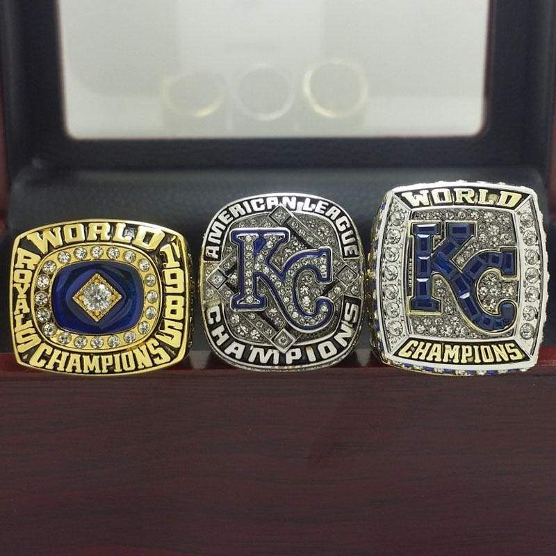 SPECIAL EDITION Kansas City Royals World Series Ring Set (1985, 2014, 2015) - Premium Series