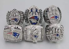 Load image into Gallery viewer, SPECIAL EDITION New England Patriots Super Bowl Ring Set (2002, 2004, 2005, 2015, 2017, 2019) - Premium Series