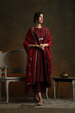 Royal & Elegant Maroon Embroidered Kurta Set (YMN-20)
