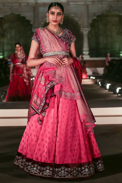Magenta Decorative Embroidered Lehenga Set ( KZ-02 )