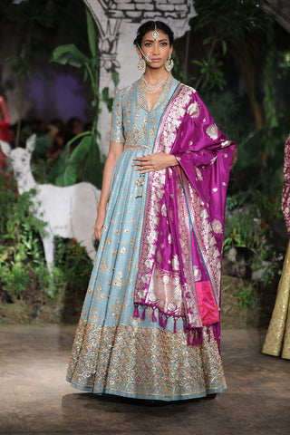 Embroidered Anarkali & Dupatta Set
