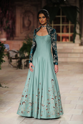 Zardozi Embroidered Long Dress JP-34