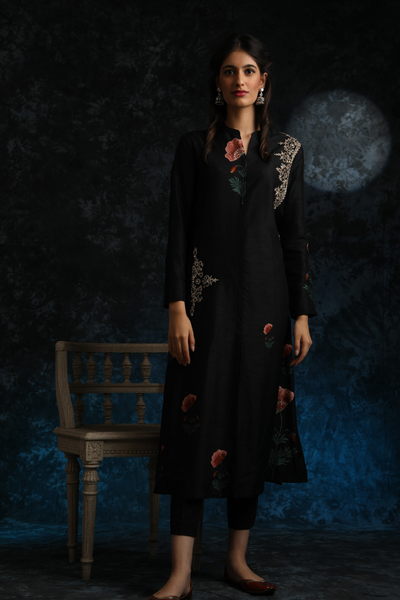 Floral Boota Printed  Kurta Paired With Matching Cotton Pants  (ALY-06)