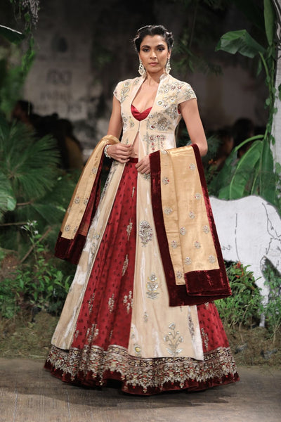 Gorgeous Lehanga Set With Long Jacket SK-36