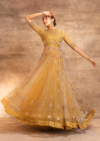 Antara Anarkali Set With a tulle skirt (SK-17)