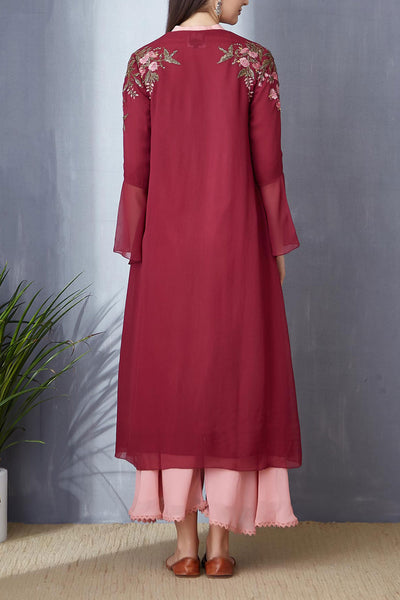 Royal Deep Plum A-line Tunic Set ( BGH-02A )