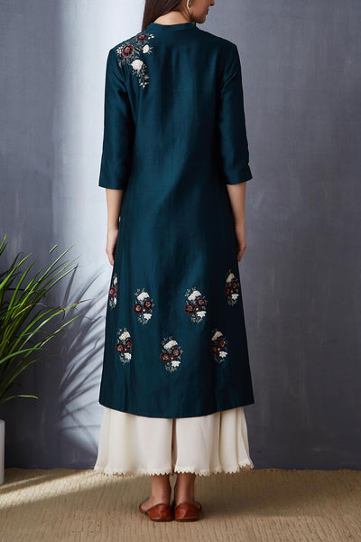 Gorgeous Deep Teal A-line Tunic Set ( BGH-11A )