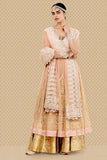 Beautiful Scallop Embroidered Angrakha,kurta, Sharara & Dupatta Set