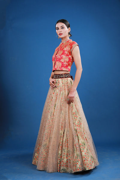Brocade Embroidered Lehanga