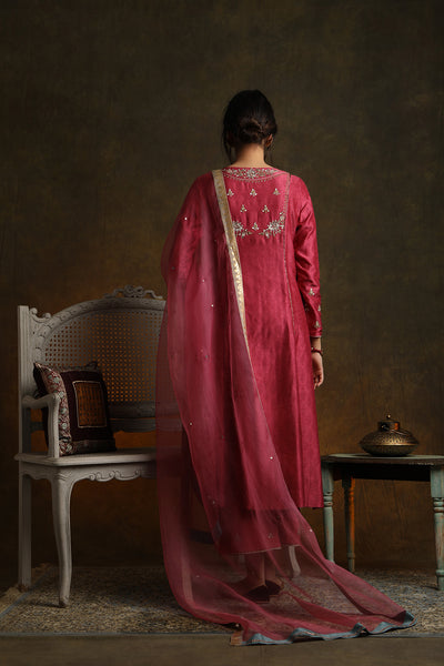Marori Embroidered Kurta Comes Along With Embroidered Palazzo And Dupatta (YMN-03)