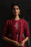 Multicolor Floral Boota Embroidered Kurta Set ( EM-02/RUBY )