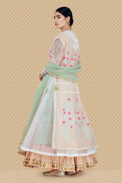Exquisite Embroidered Jacket,angrakha, Kurta,sharara & Dupatta Set