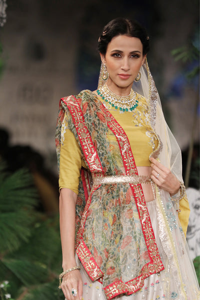 Exquisite Floral Embroidered Lehanga Set SK-12