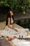A serene ivory gota detailed lehenga set (LS-18)