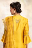 Rich & Pristine Yellow Zardozi Embroidered Kurta Set (YMN-13D)