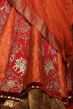 Stunning Maroon & Rust Embroidered Lehanga Set  (DCW-13 / D-39)